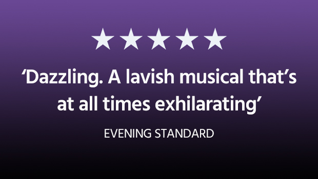 Dazzling. A lavish musical that's at all times exhilarating - The quote from the Evening Standard about the Dreamgirls in London at the Savoy Theatre